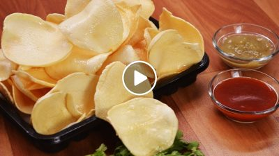 Crispy potato chips recipe | Potato Wafer recipe | आलू चिप्स रेसिपी | How to make potato chips